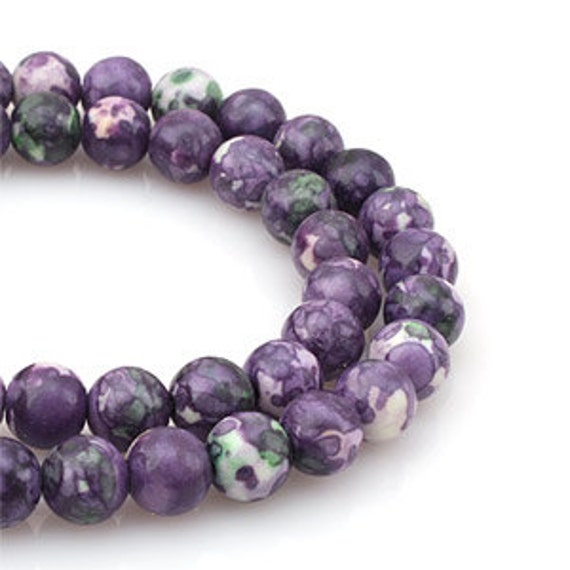 8mm mixed purple green colored stone round ball gemstone. Black Bedroom Furniture Sets. Home Design Ideas
