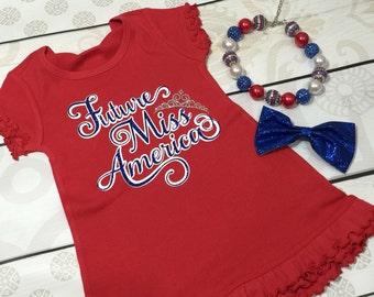 Future Miss America Glitter Dress
