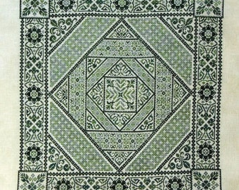Shades of Green PDF Chart by Northern Expressions Needlework