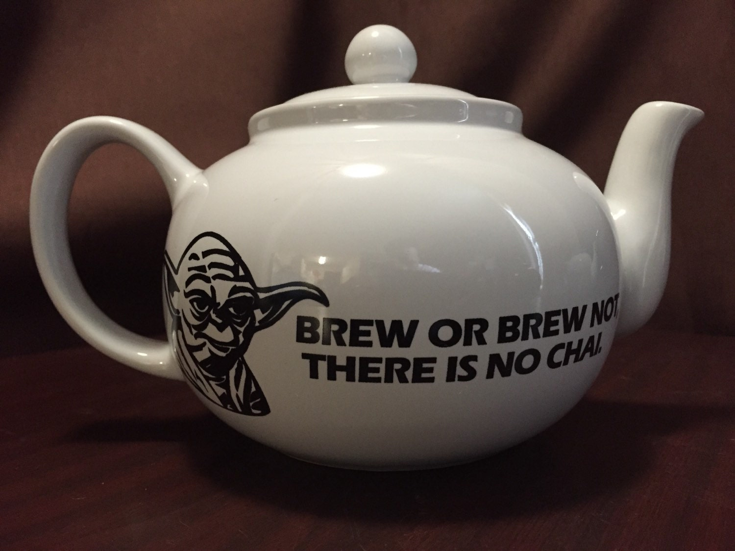 Star Wars Inspired Yoda Stoneware Brew Or Brew Not There Is No
