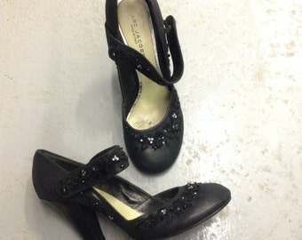 SEQUEL Vintage Marc Jacobs Mary Jane Heels, Black, 39, 8.5, 9