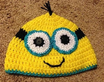 Minion Hat (two-eyed) - crocheted