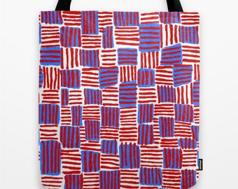 "Red, white and blue - Tote bag, 16""x16"""