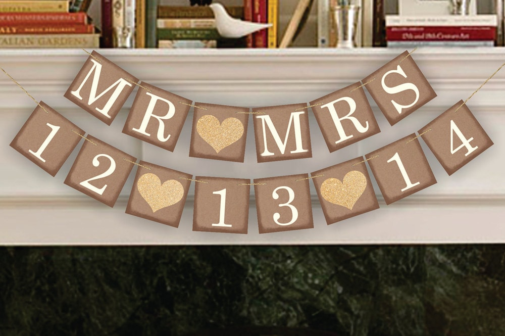 Wedding Banner Save The Date Banner Wedding Date Banners
