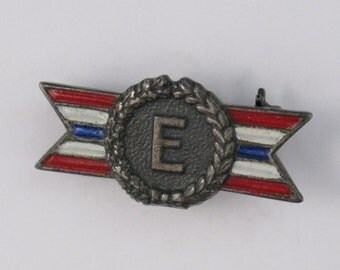 Vintage WWII Army Navy 'E' Award production award sterling silver pin
