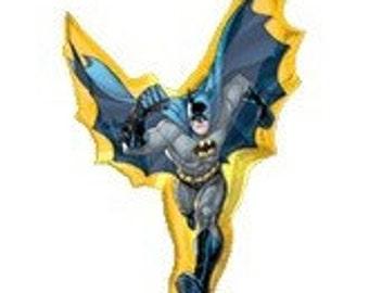 "39"" Super Shape BATMAN Foil Balloon birthday party supplies favors decorations movie DC Comics super hero"
