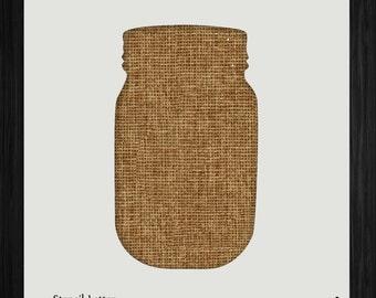 Plain Mason Jar 1573 DIY Stencil Clear Plastic Acrylic Mylar Reusable