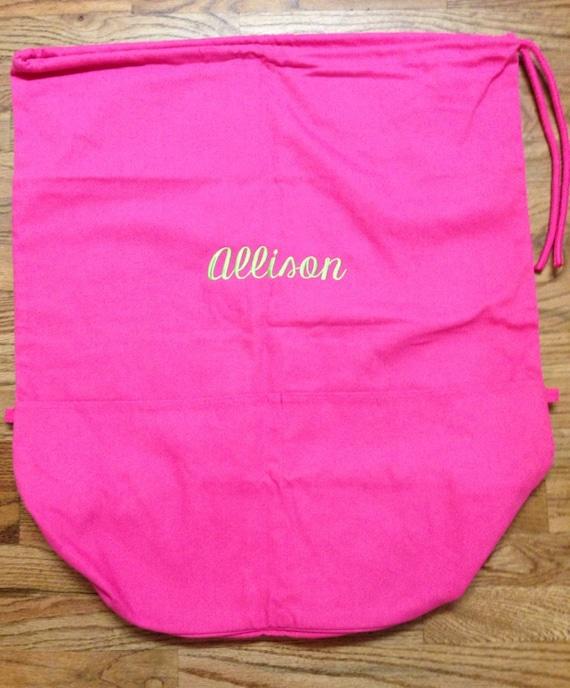 Monogrammed Cotton Canvas Laundry Bag