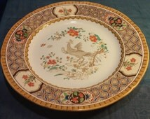 Antique Edwardian English Minton Plate Rare 1900s Vintage Tablewares Collectible Display Plate 10 inches.