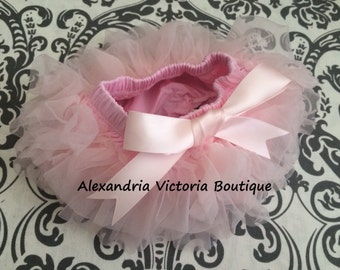 SOFT PINK TUTU Bloomer, chiffon ruffle diaper cover, newborn ruffle all around bloomer, several colors to chose from-ready to ship!