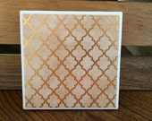 Retro Gold Coasters - Set of 4