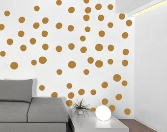 Large Hand Drawn Dots - Wall Decal