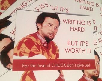 Writing is Hard Postcard sized print