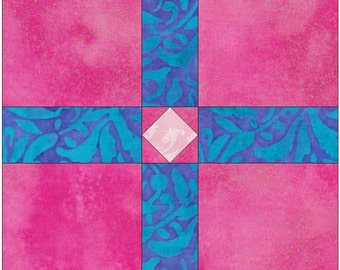 Easy Cross Knot Chain Paper Piece Templates Quilting Block Pattern