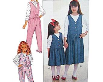 Butterick Sewing Pattern 4334 Girls' Top, Jumper, Jumpsuit  Size:  7-9-10  Uncut