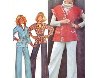 McCall's Sewing Pattern 5404 Misses' Unlined Jacket, Pants Size:  10-12  Uncut