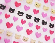 Cute Little Love Hearts and Piggy Heads pop up Stickers!