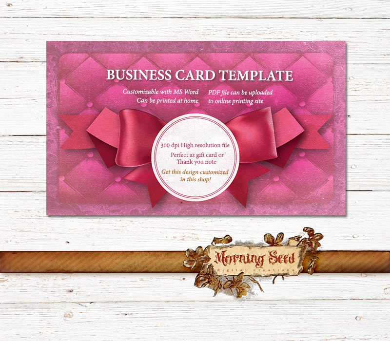 Business Card Custom Design Jewelry Holder Template