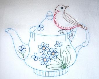 Teapot with Bird