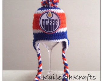 Express Shipping for Faranza: Handmade Edmonton Oilers Crochet Hat