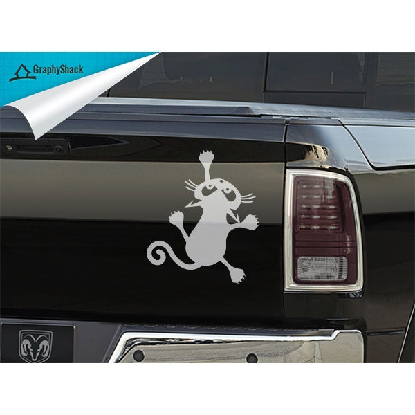 Blanc funny cat escalade voiture autocollant fen tre par for Fenetre voiture