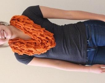 Handmade Infinity Scarf - Pumpkin