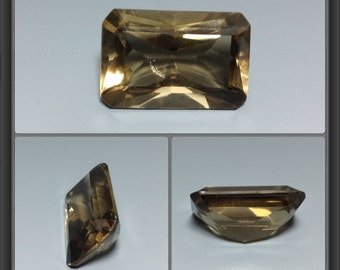 Smoky quartz faceted 18.30ct