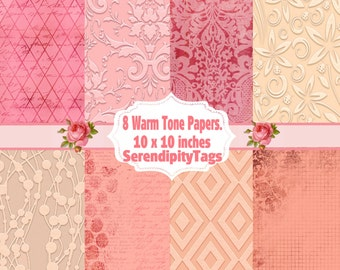 8 Warm Tone Papers