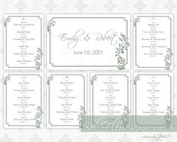 Printable seating chart wedding template diy seating plan printable