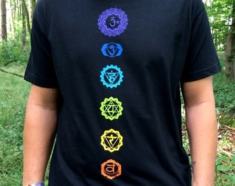 chakra shirt, t-shirt, aum, yoga, meditation