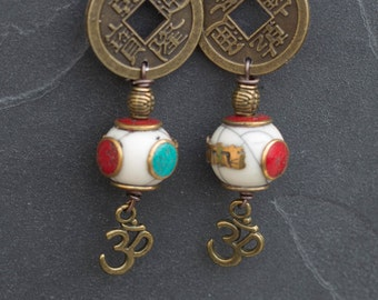"Tibetan earrings ""Lamita"""