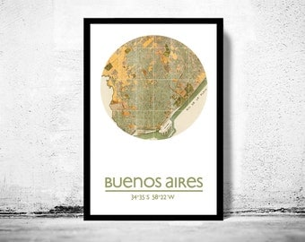 BUENOS AIRES - city poster - city map poster print