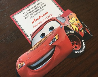 Lightening McQueen Birthday Invitation