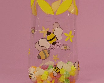 Bumblebee Cello Treat Bags, Bumble Bee Party Bags, Bumblebee Favor Bags, Bumble Bee Favor Bags