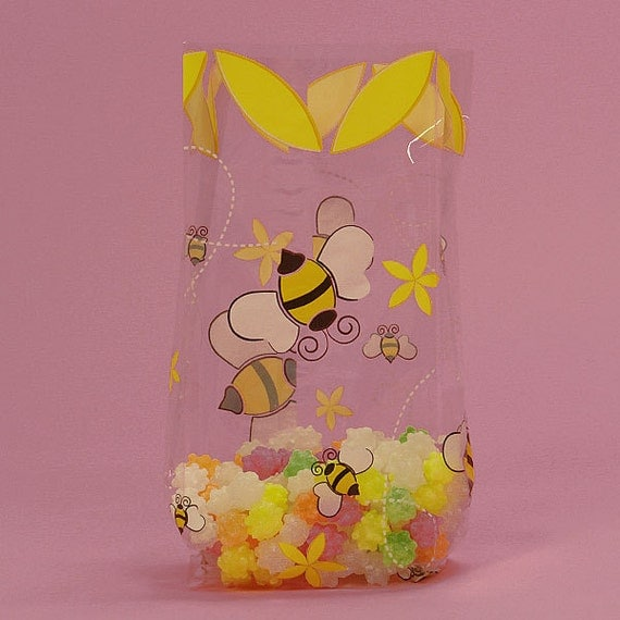 Bumblebee Cello Treat Bags Who Will You Bee Bumble Party