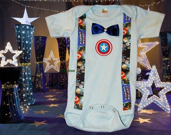 Avengers Captain America themed Bodysuit