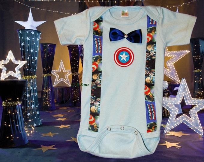 Avengers Captain America themed Bodysuit