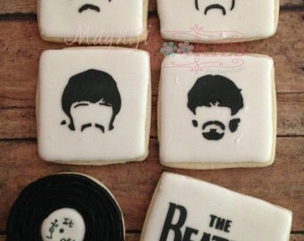 Beatles decorated Cookies - May be PERSONALIZED