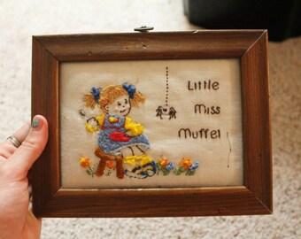 Little Miss Muffet Cross Stitch