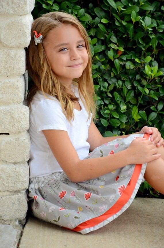 skipping to school organic cotton little girls skirt