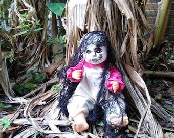 Scary doll. Scary art