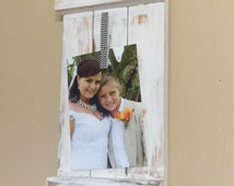 Shutter picture frame, picture frame, picture display, Shutters, Cottage, Shabby chic, rustic, wedding gift, house warming gift