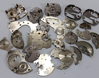 Lot of Vintage Watch Parts - Steampunk, Altered Art, Assemblage, Bead Supplies