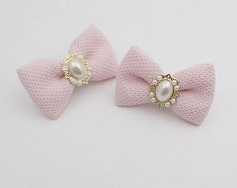 Detachable Pink Bridal Shoe Clips,Shoe Clips, Bridal Shoe Accessories,wedding shoes corsage,ribbon shoes clip,shoeclip,shoes clip
