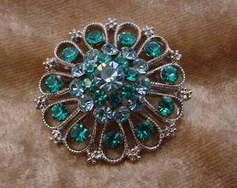 Vintage Brooch in Shades of Blue