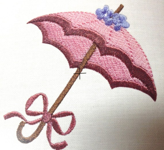 Machine embroidery parasol umbrella home decor and