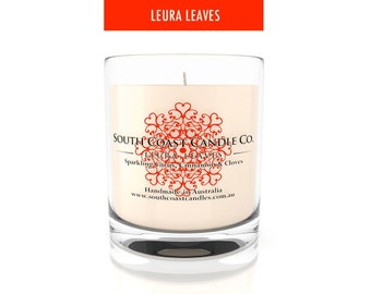 Scented Soy Wax Candle Citrus Cinnamon Cloves Glass Housed Jar