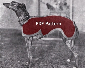 Knitting Pattern For Whippet Coat : Greyhound sweater Etsy