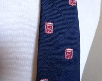 1776-1976 Bicentennial Drums The American Revolution Vintage Necktie/Tie