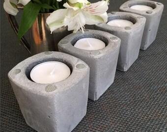 Concrete Tea Lights  -  Set of four